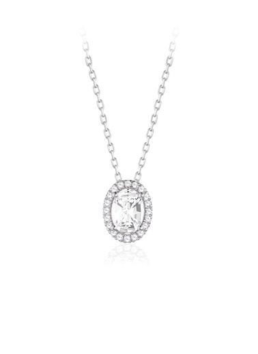 Zirconia From Swarovski Kolye Gümüş
